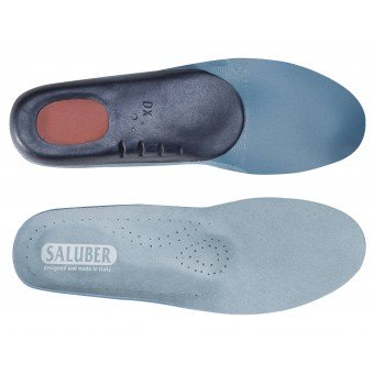H480-46: Alcantara® anatomical orthotics with Poron® heel, with Arch Support and Metatarsal Pad (Pair)